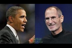 """乔布斯两""""批""""奥巴马"""