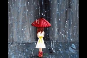 雨中,我举一把伞
