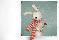 小兔子有一颗玻璃心。